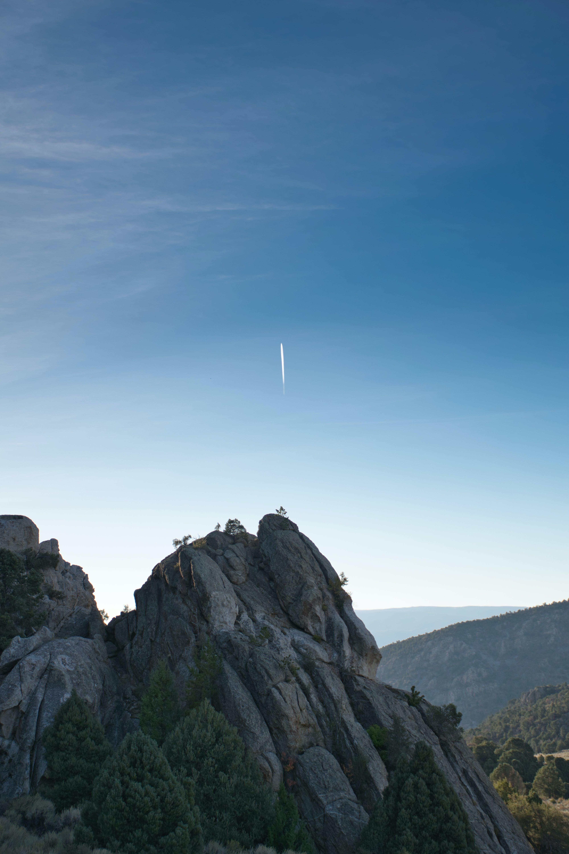 Meteor on Blue Sky