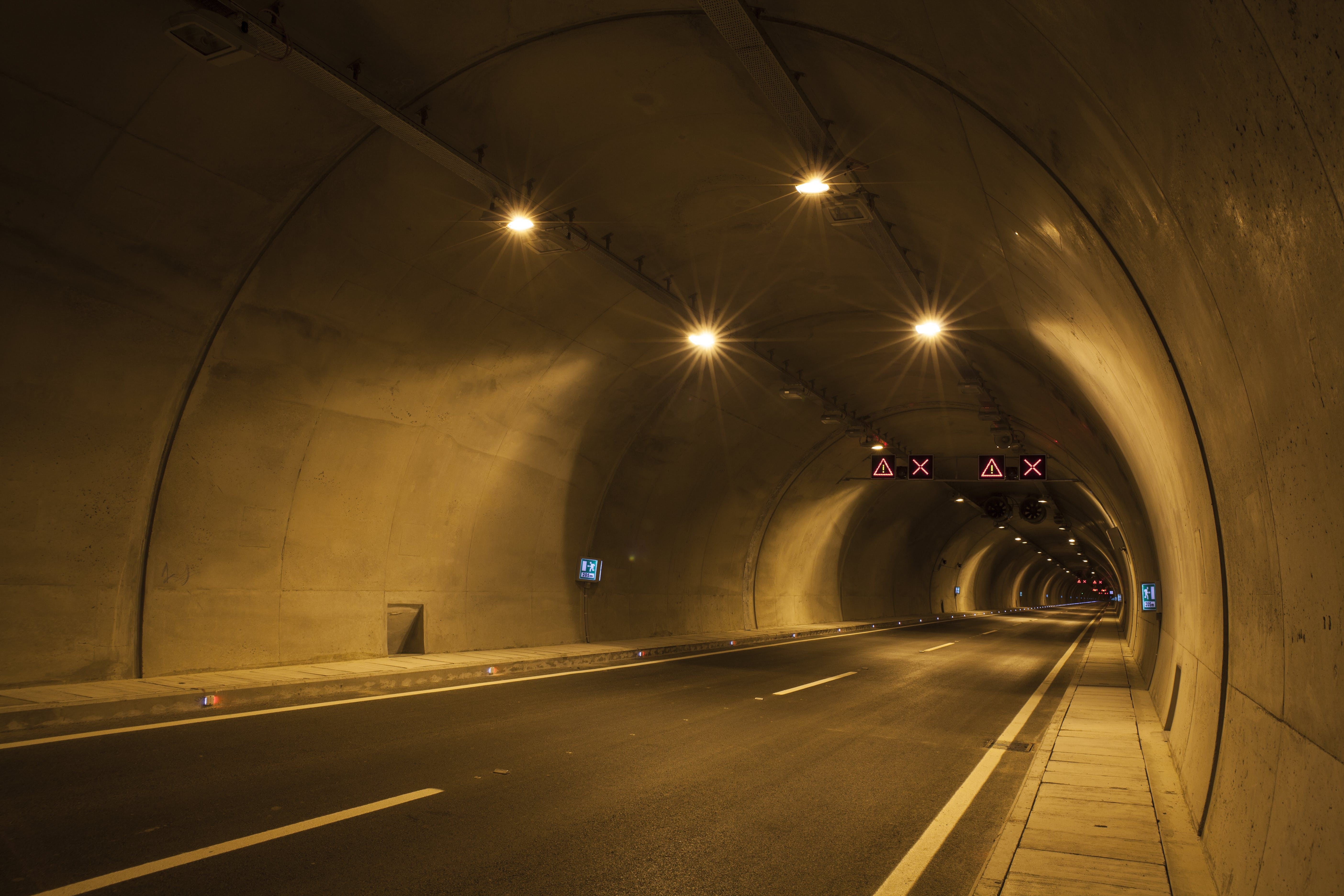 Empty Road Tunnel