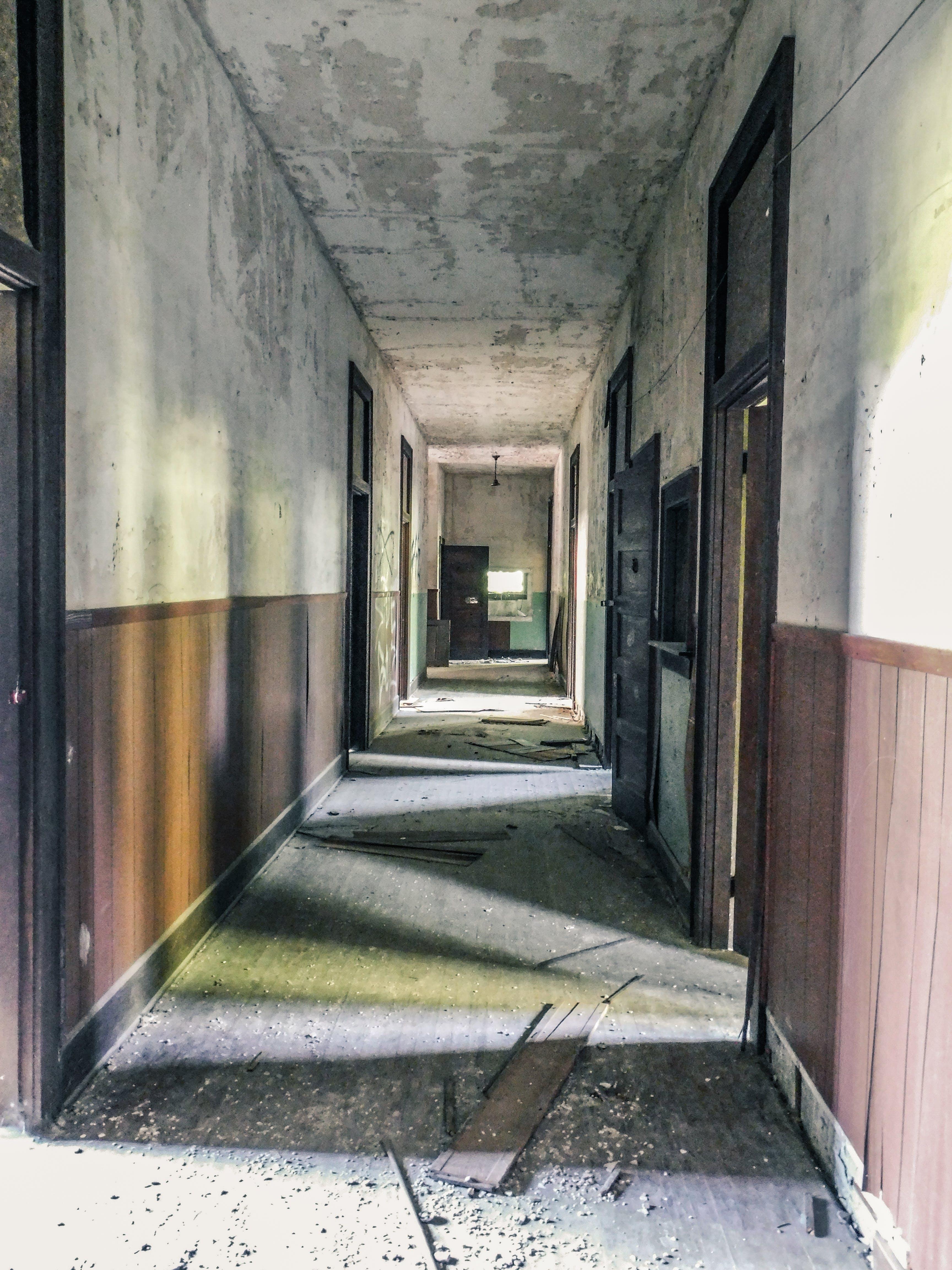 Free stock photo of abandoned building, hall, rundown