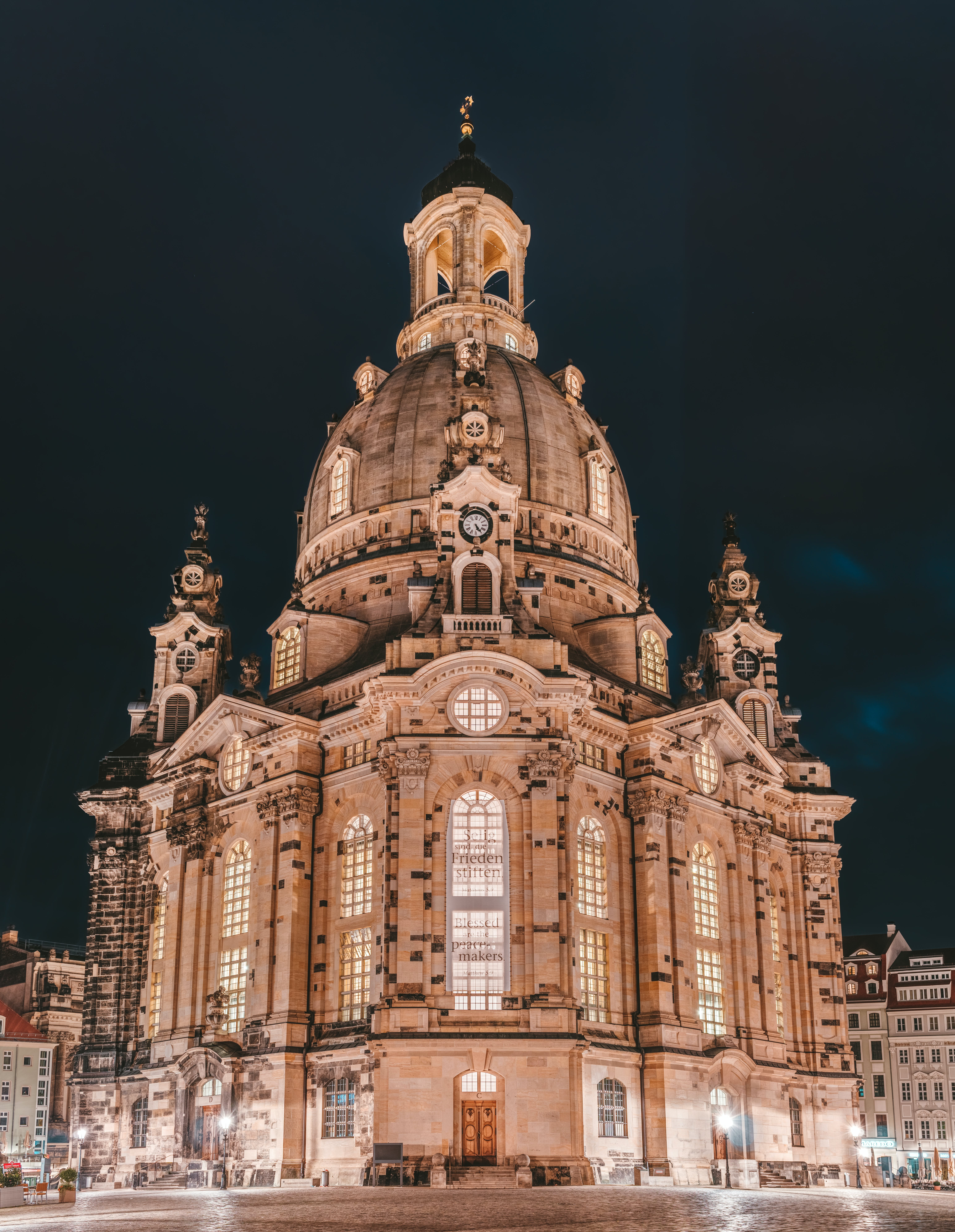 Brown Cathedral at Night