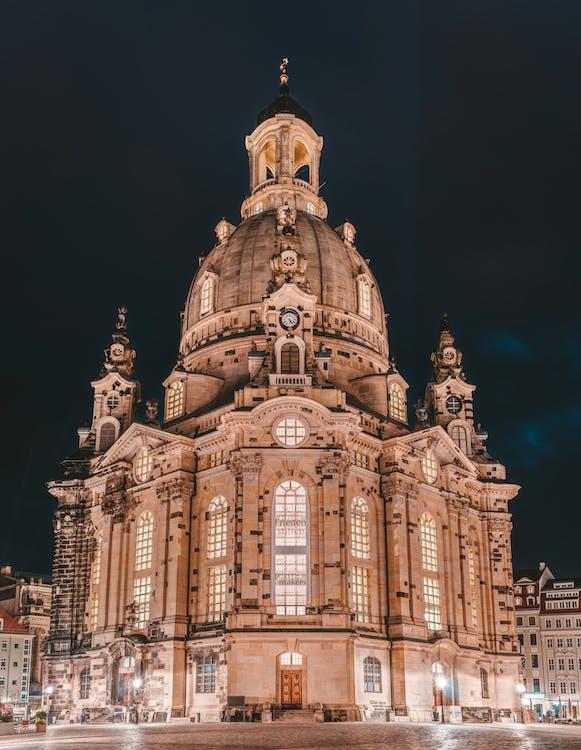 architektura, budynek, katedra