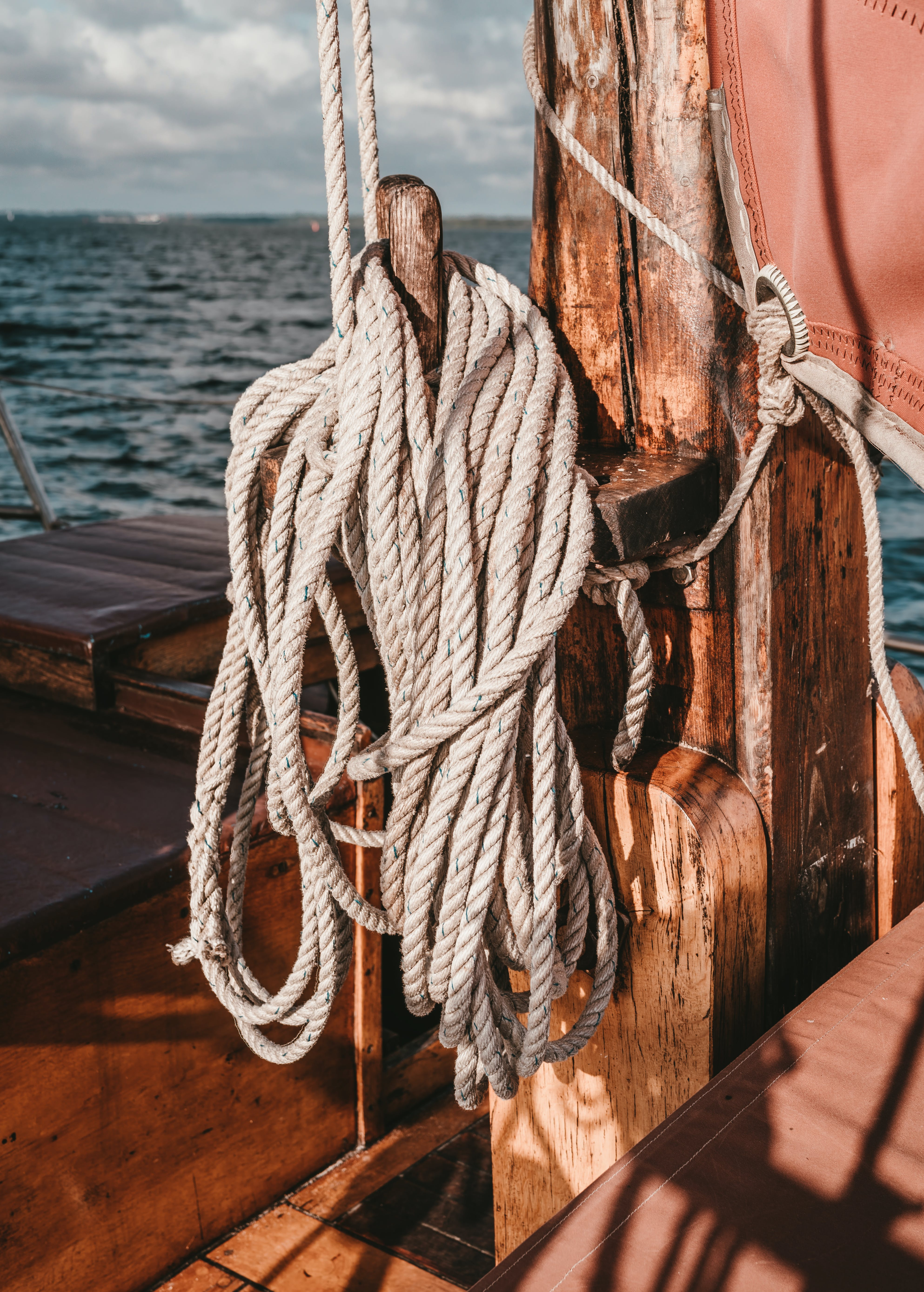 White Rope on Wooden Hook