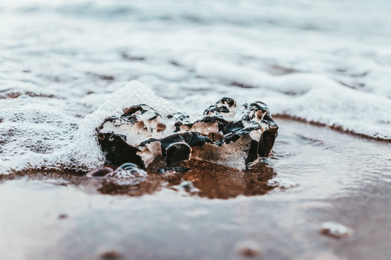 Ingyenes stockfotó homok, hullámok, közelkép, part témában