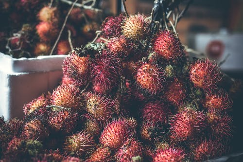 Selective Focus Photography of Rambutan Fruit