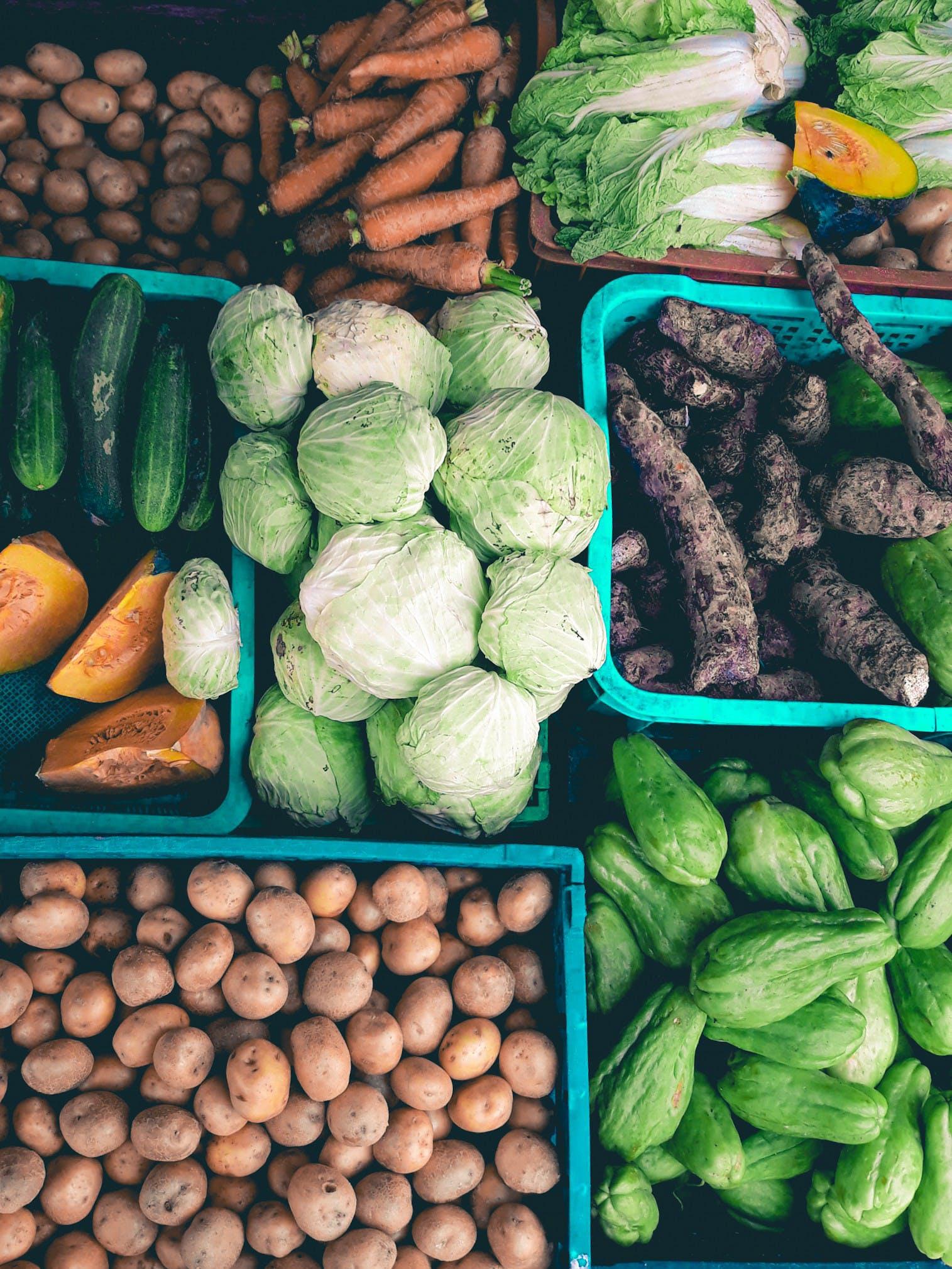 Varieties of Vegetable in Baskets