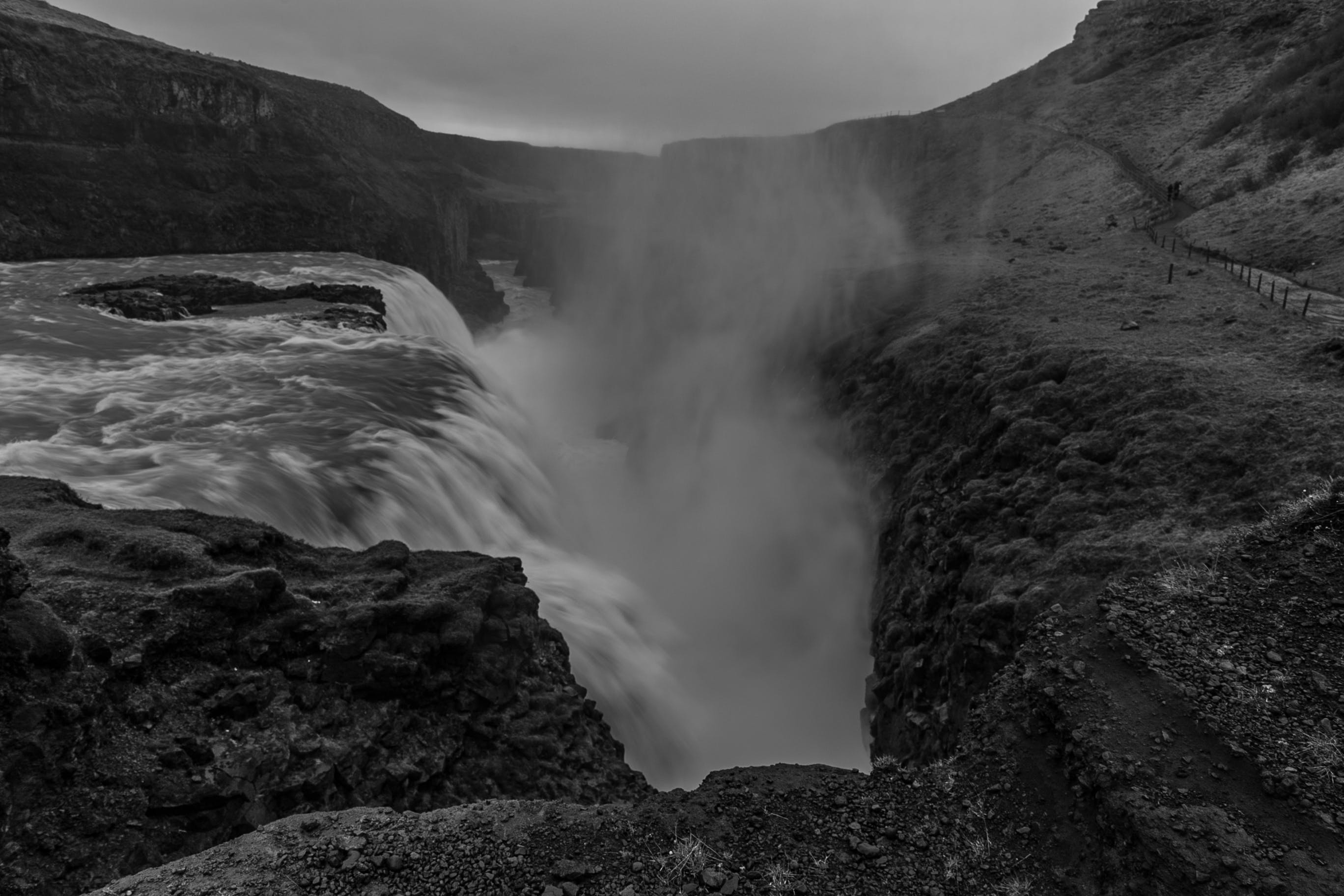 Graysclae Photography of Waterfalls