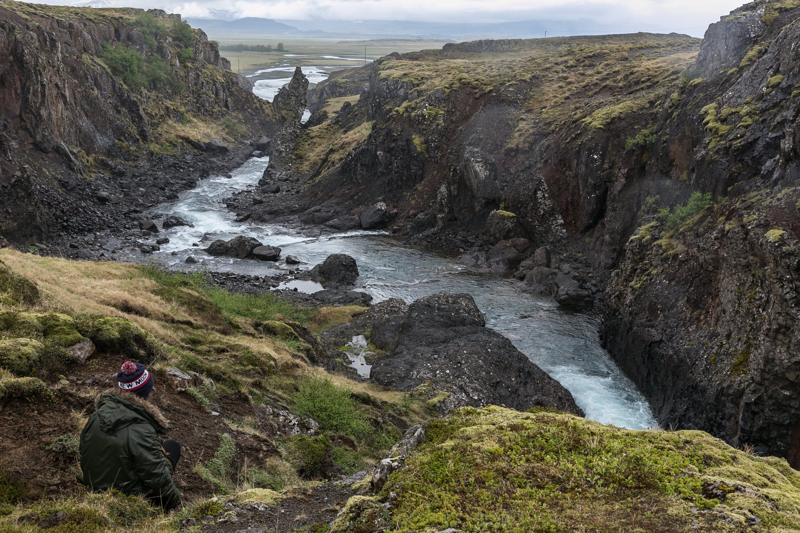 Photo of Stream of River in Between Cliff
