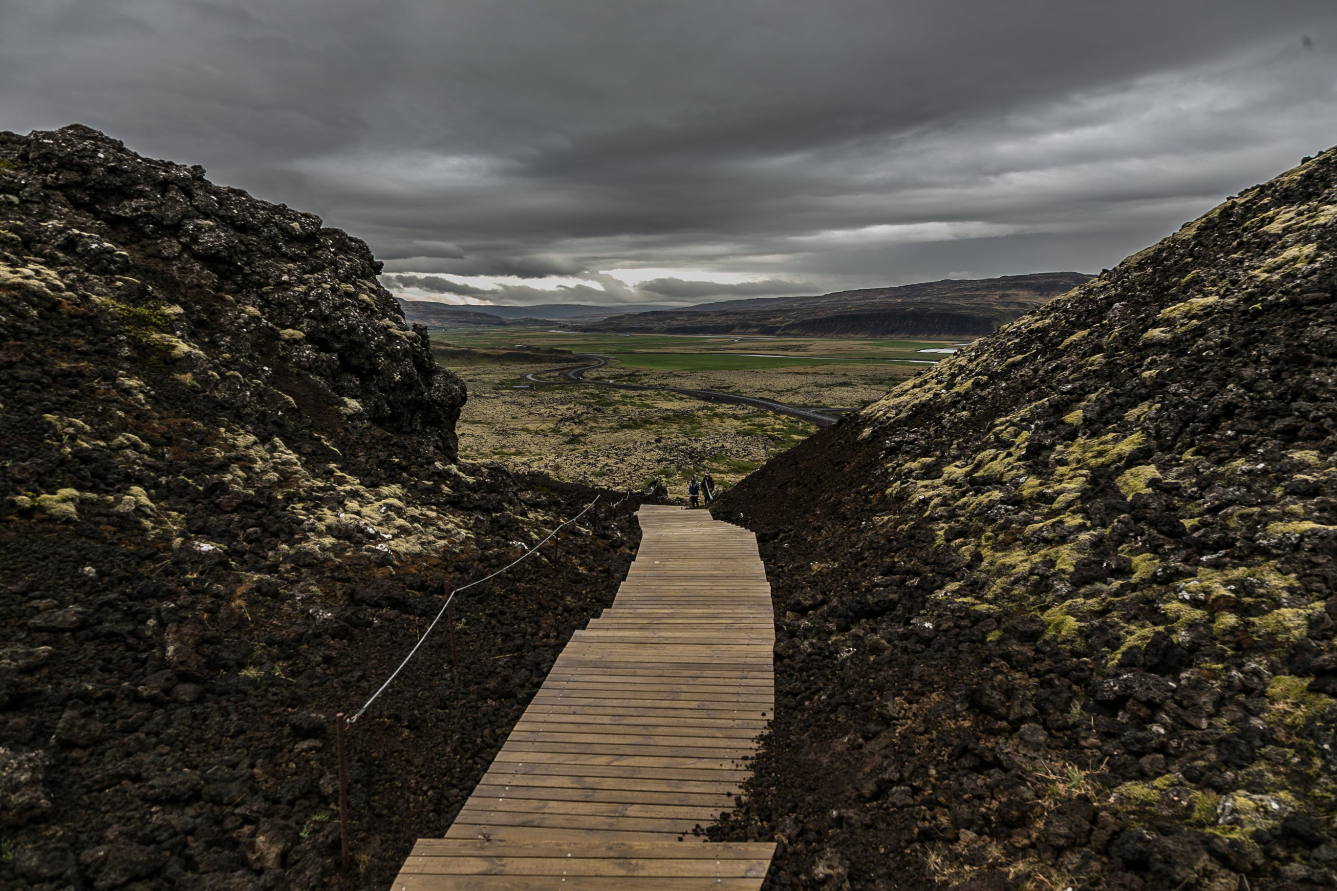 Path in the Middle of Mountains