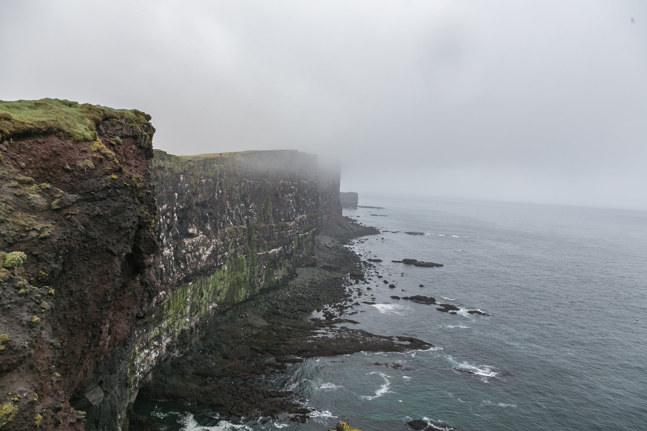 Cliff Surrounded by Fog
