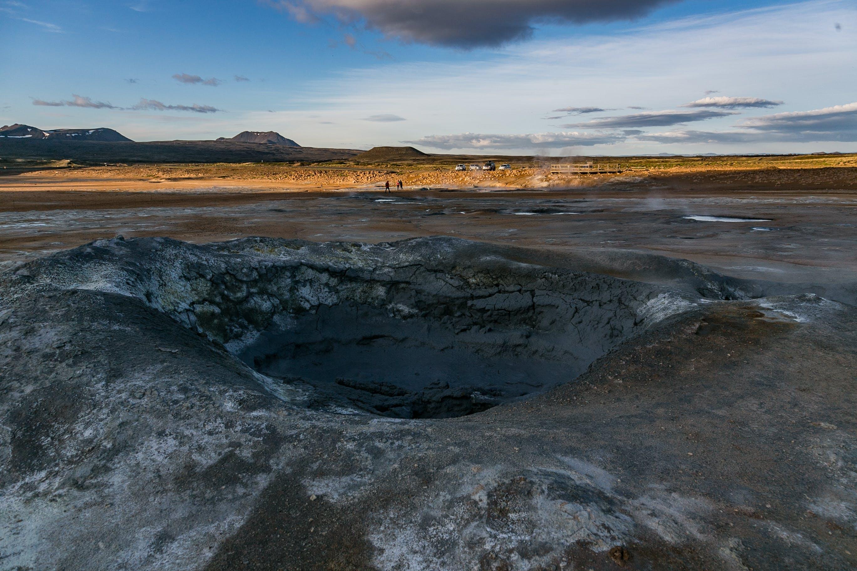 Aerial Photo of Volcano