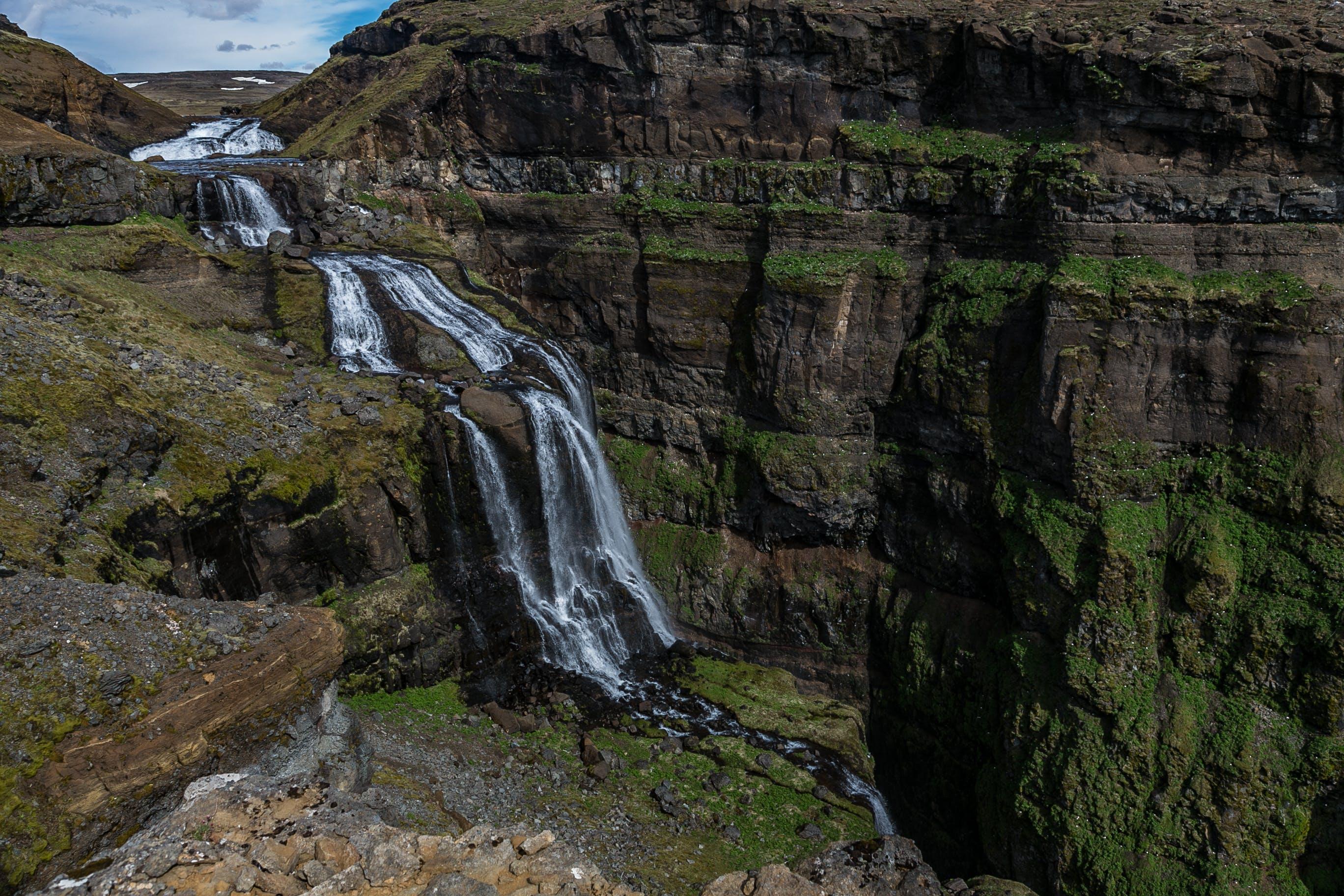 Waterfalls Under Blue Sky