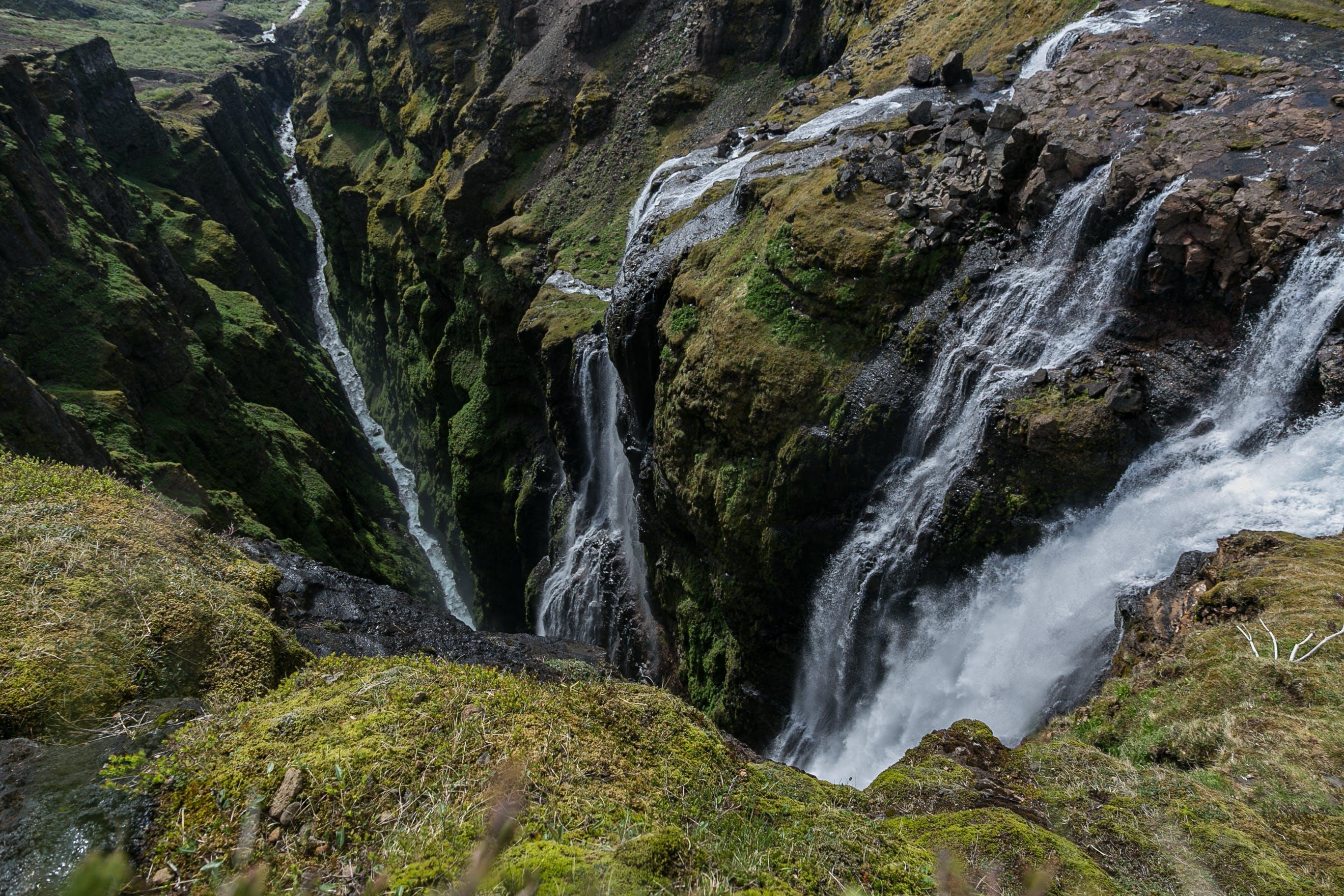 Foto d'estoc gratuïta de aigua, cascades, flux, fotografia de natura