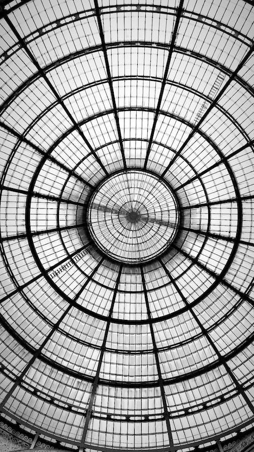 Free stock photo of glass, milan, roof