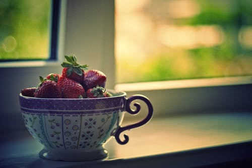 Close-Up Photo of Strawberries On Cup