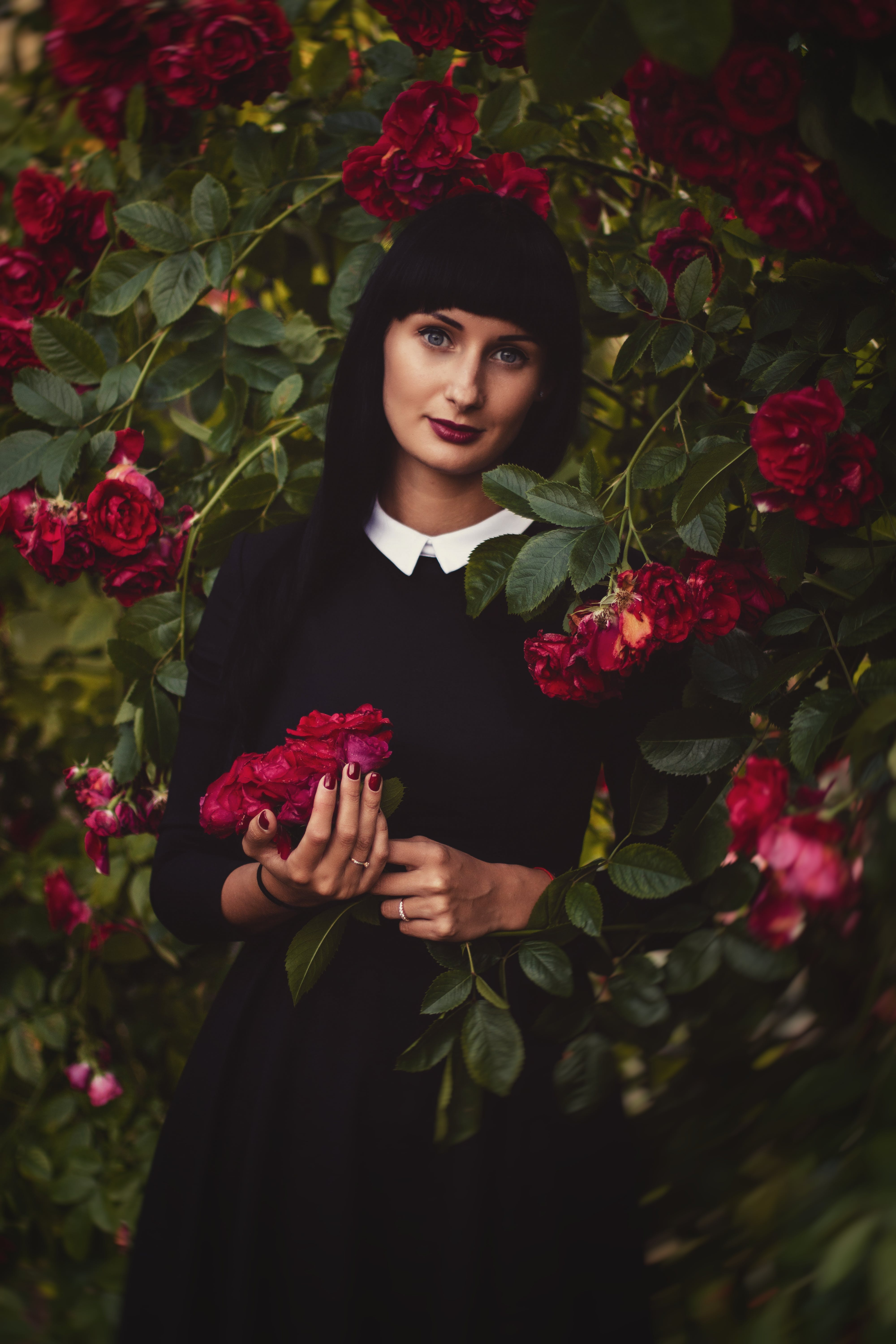 Photo of Woman Holding Flowers