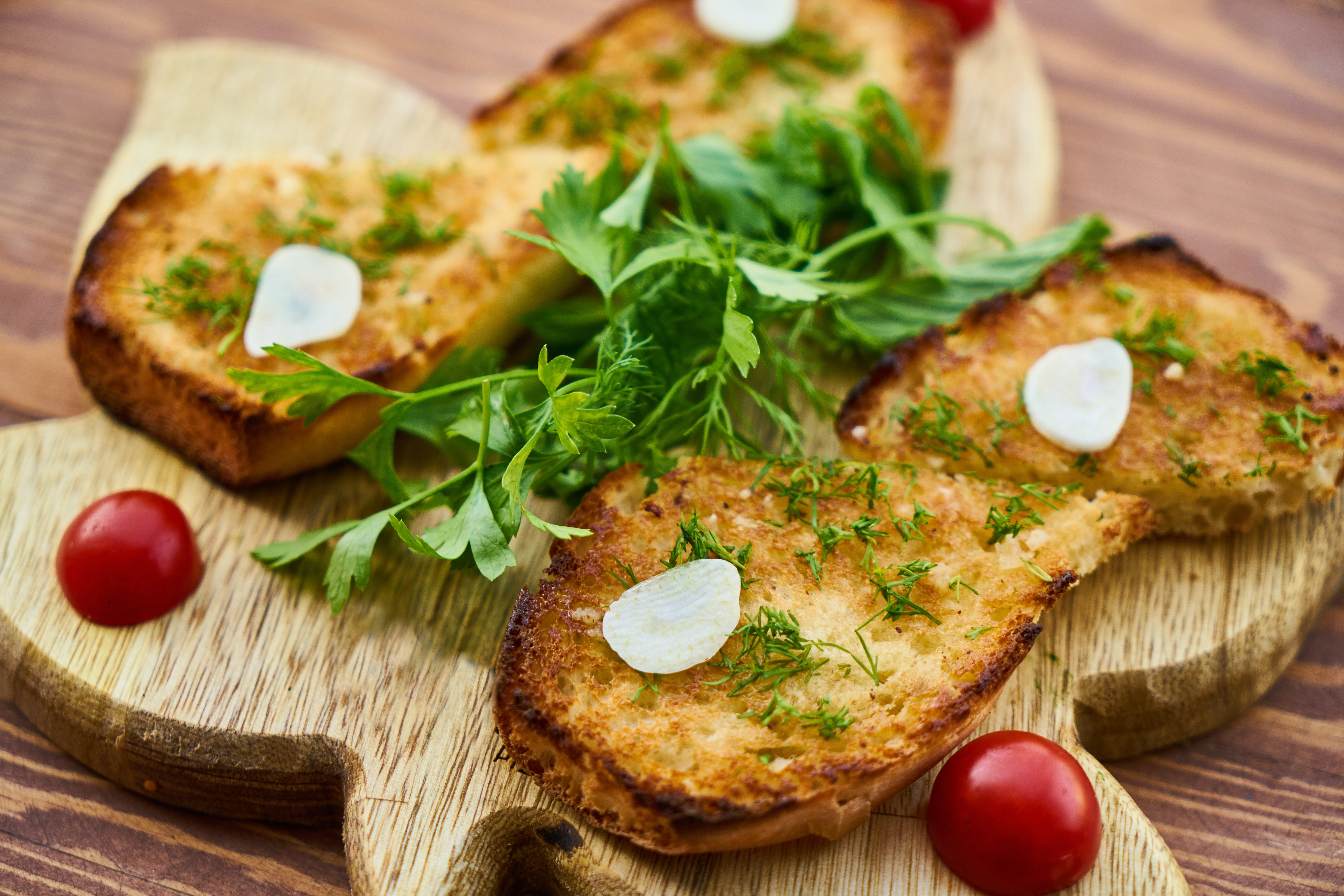 Toasted Bread And Herbs