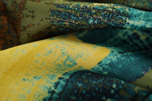 Yellow And Blue Textile