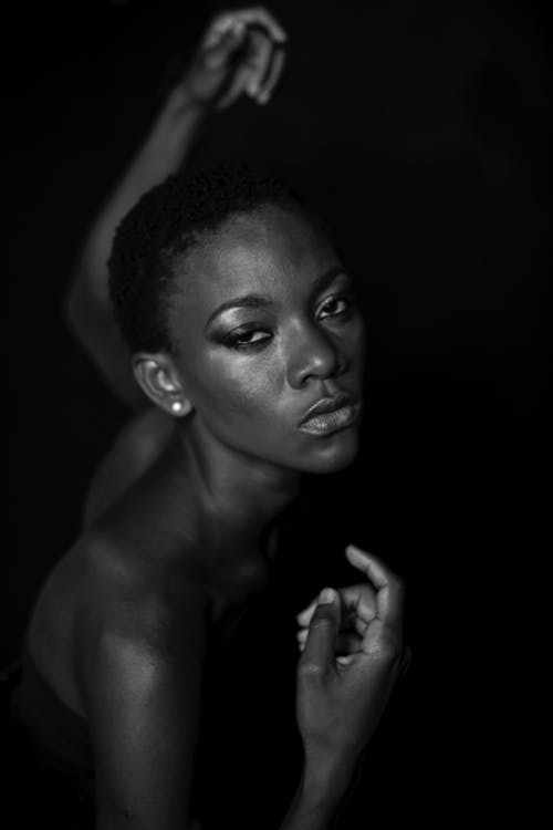 afro-américain, attirant, beau