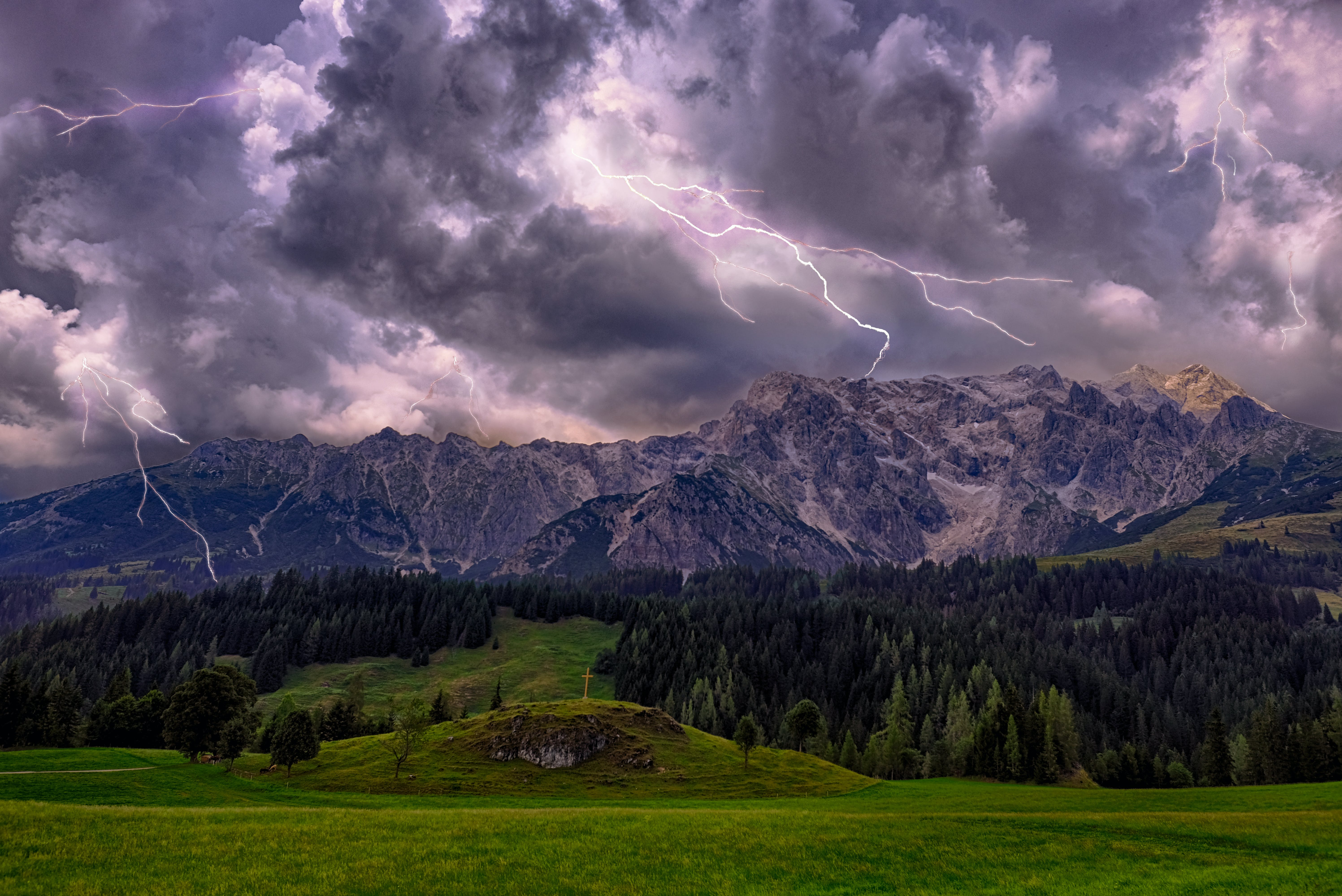 Time Lapse Photography Of Lightning And Clouds