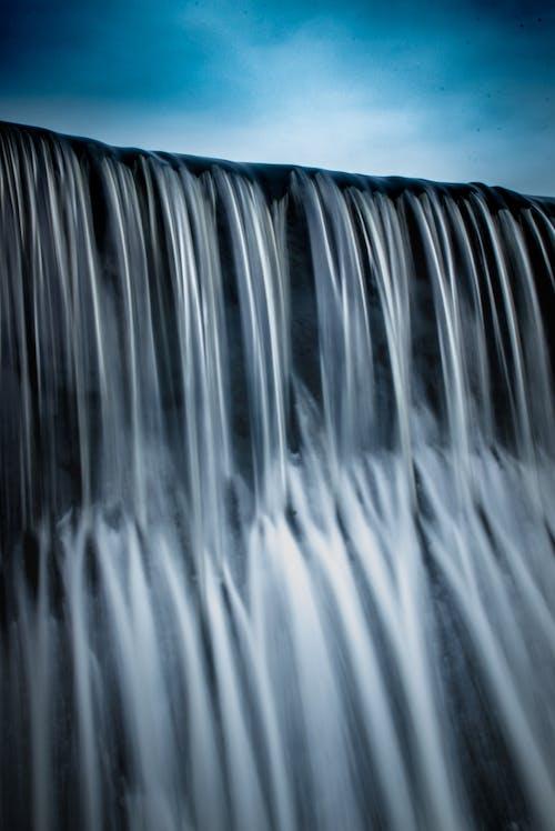 Ilmainen kuvapankkikuva tunnisteilla pato, sininen, vesi, vesiputous