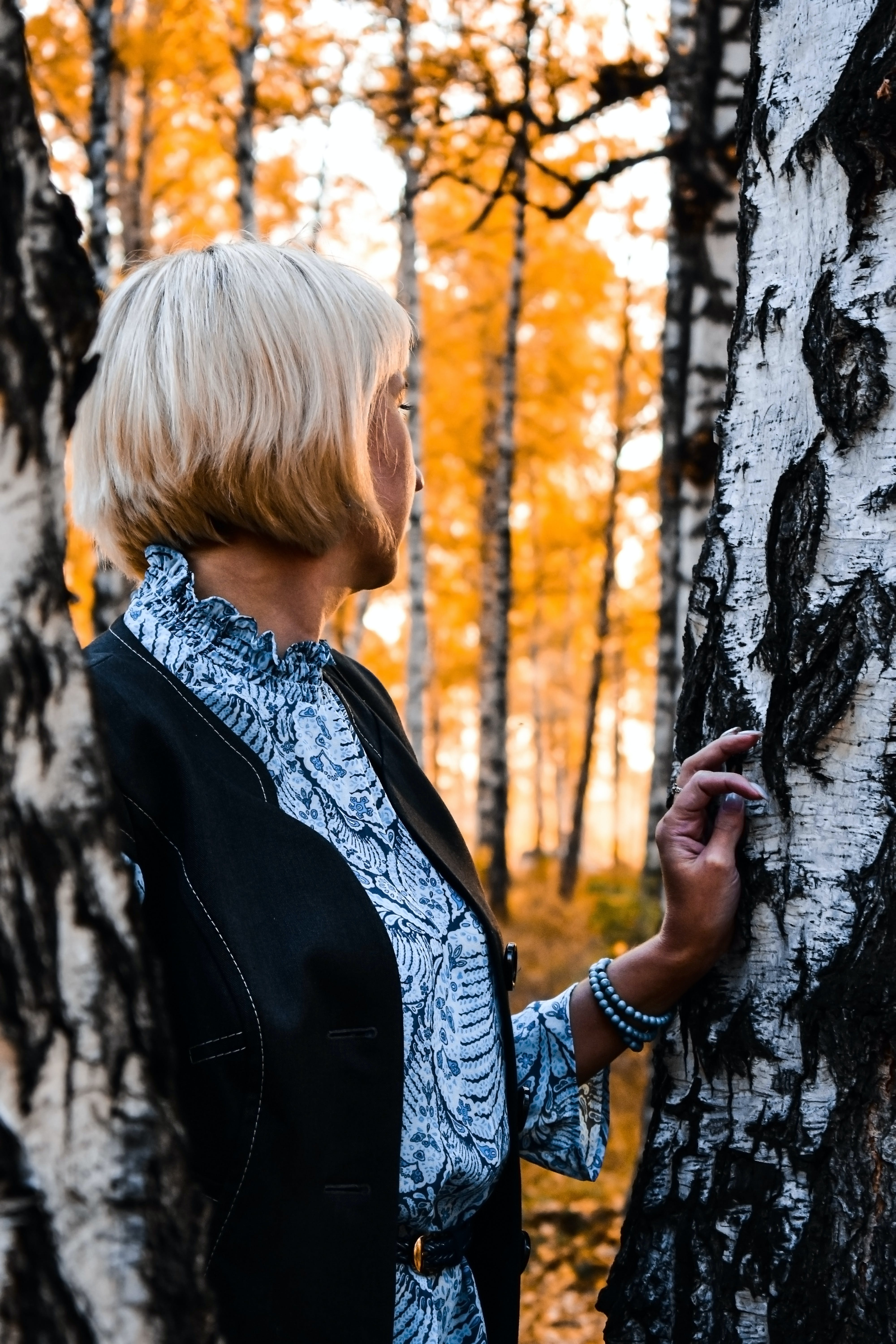 Woman Standing in the Middle Of Tree