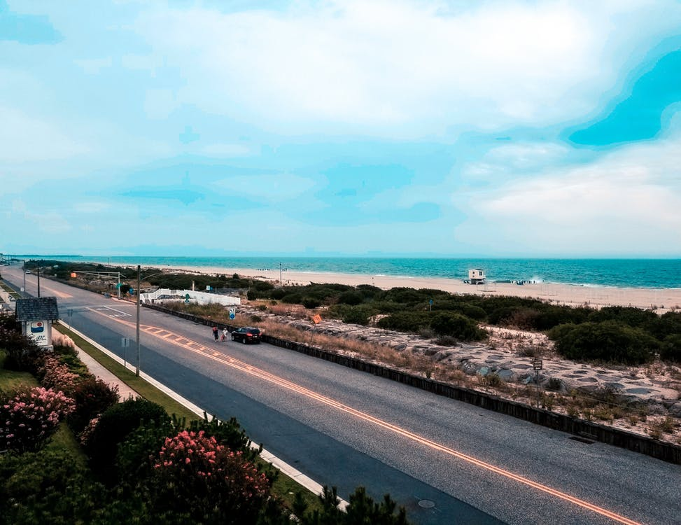 oceán, pohľady, ulica