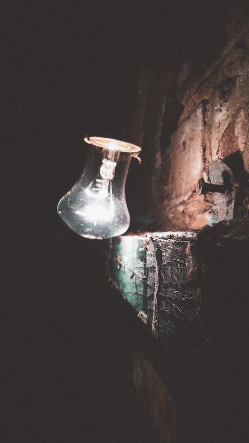 Gratis arkivbilde med lampe, lett, mørk