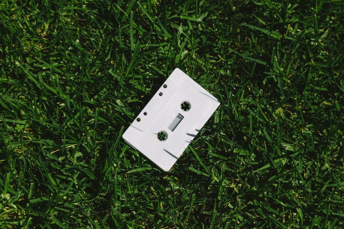 White Cassette Tape On Grass