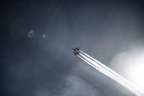 Бесплатное стоковое фото с авиашоу, аэроплан, голубые ангелы, морская пехота