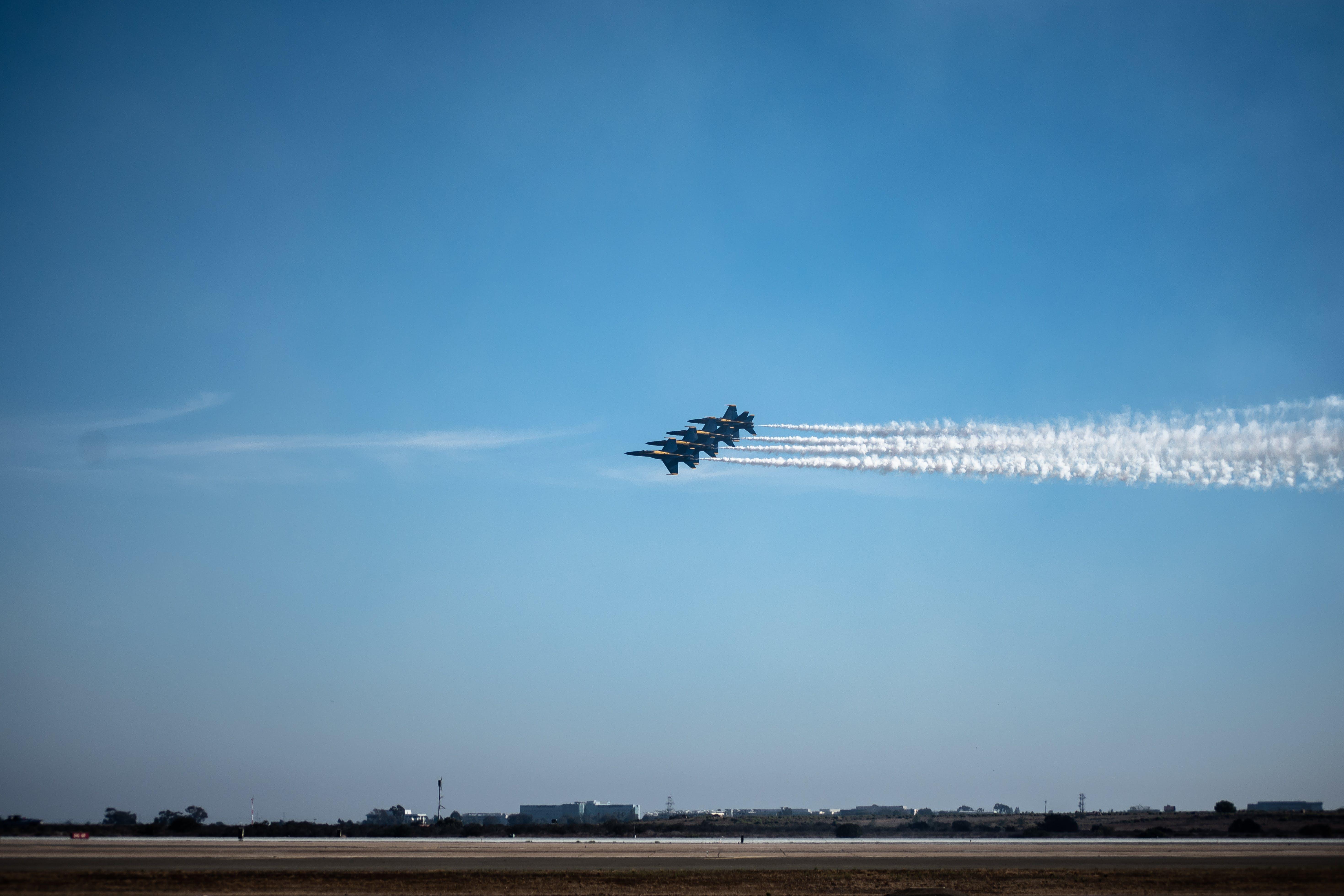 Free stock photo of aeroplane, airplane, airshow, blue angels