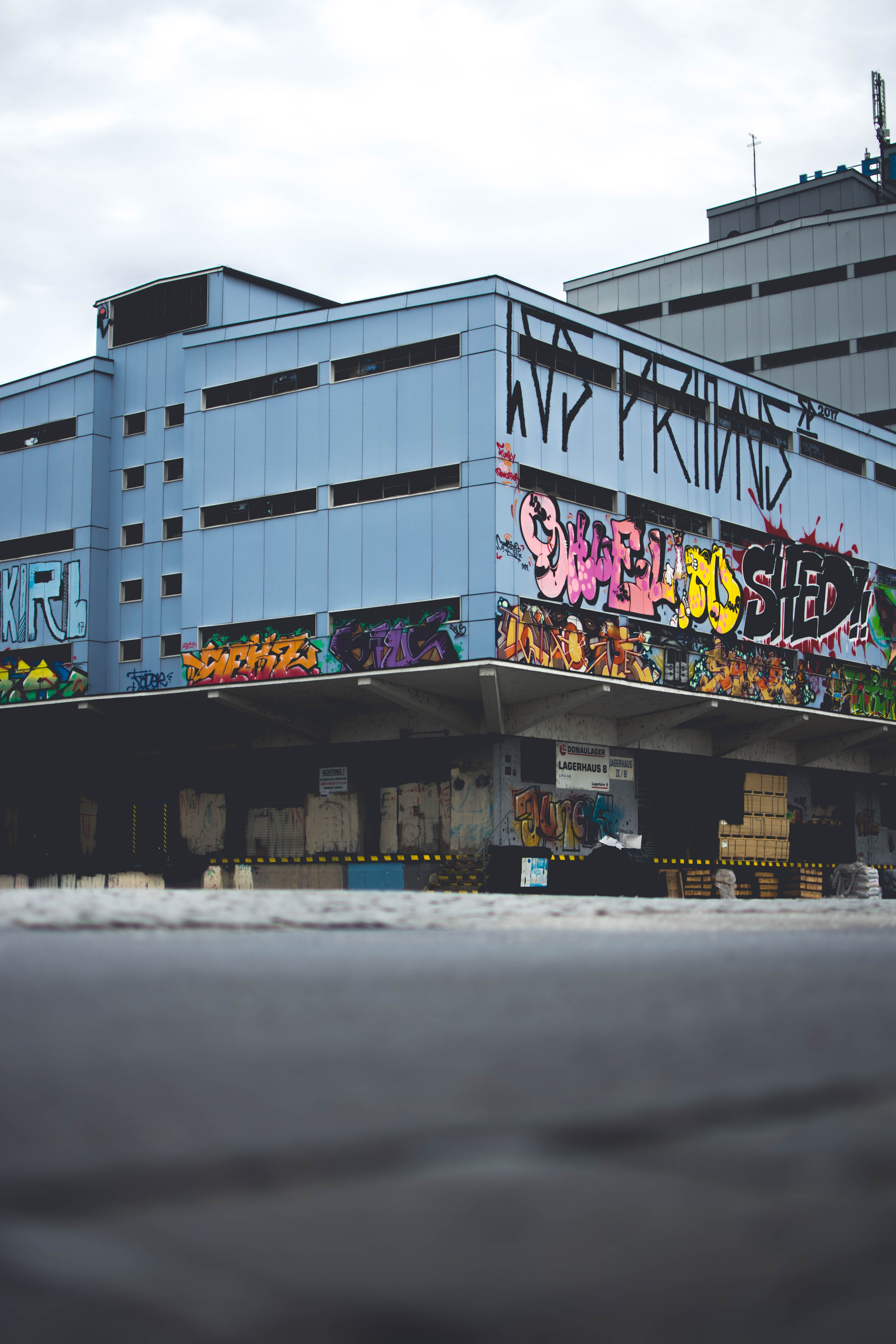 Building Covered With Graffiti