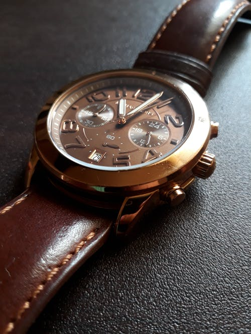 Free stock photo of analog watch, antique, brown