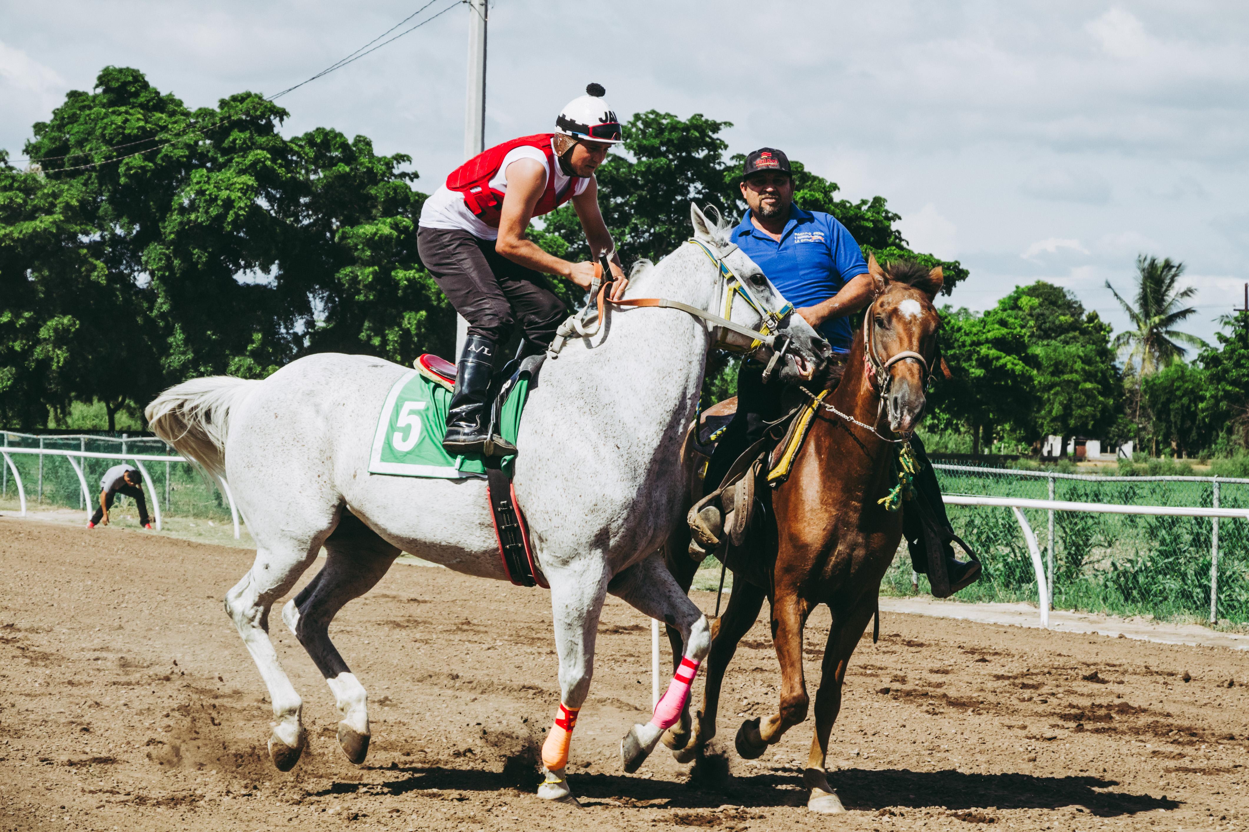 Two Men Riding on Horses