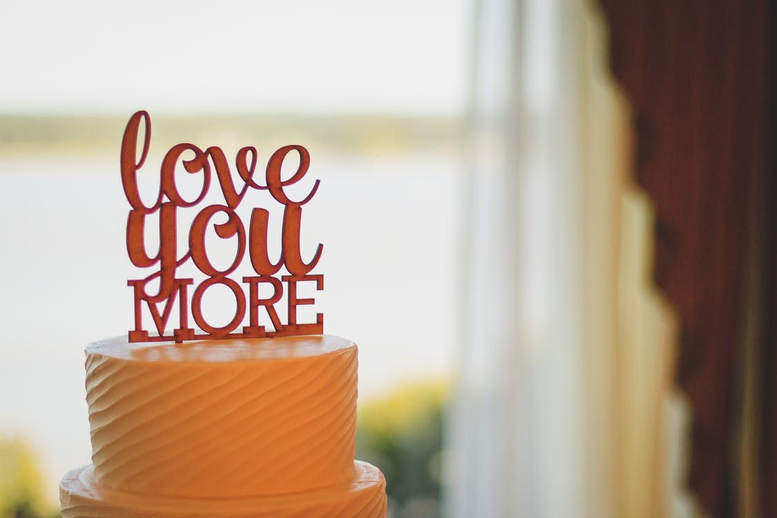 Cake With Cake Topper