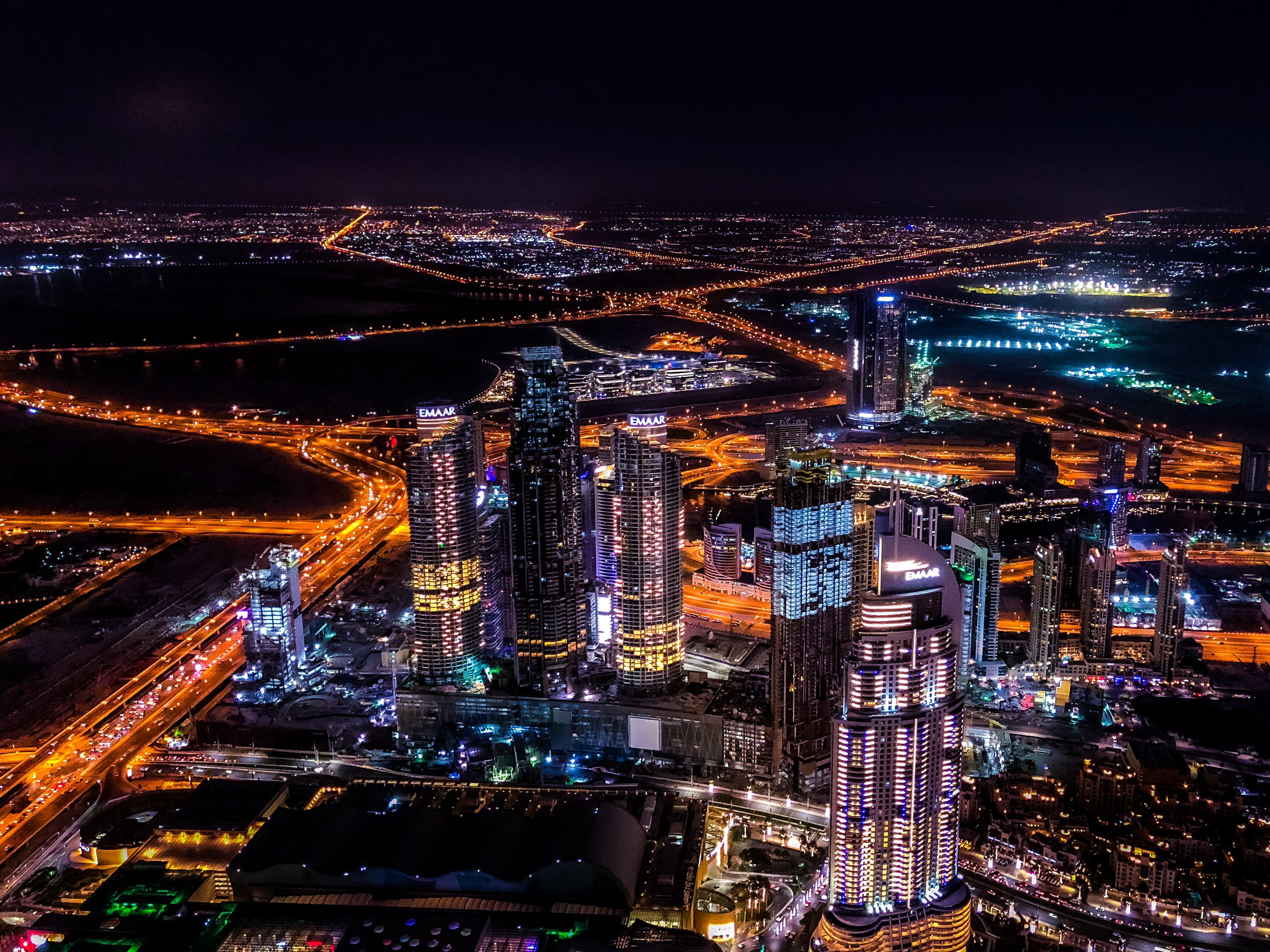 New York City Buildings at Night