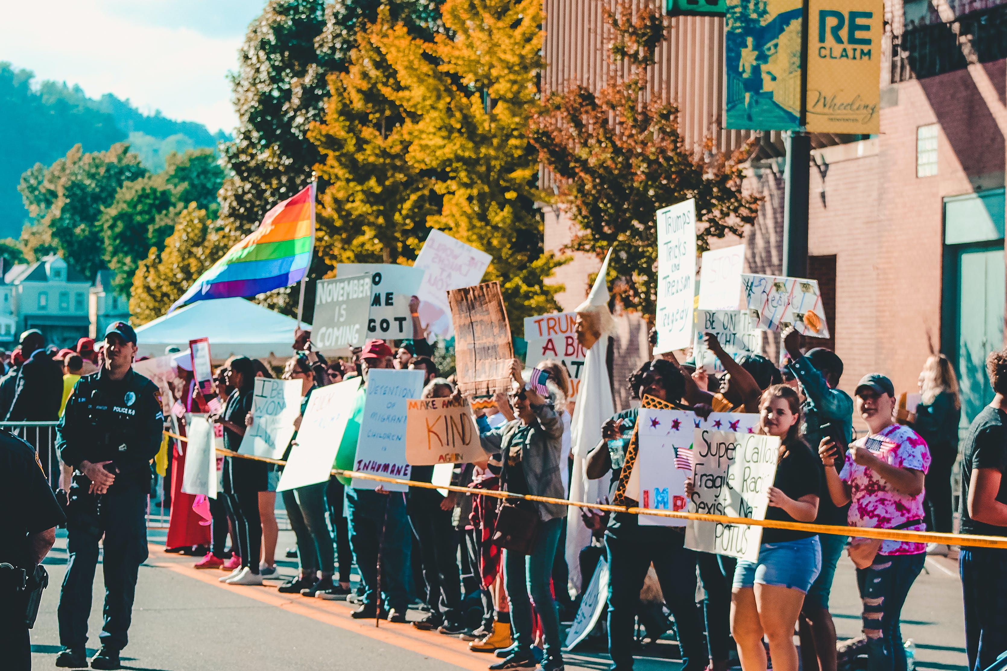 Kostenloses Stock Foto zu absperrband, action, demokratie, demonstration