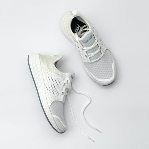 Grey sneakers with dense surface of texture for comfortable everyday wearing
