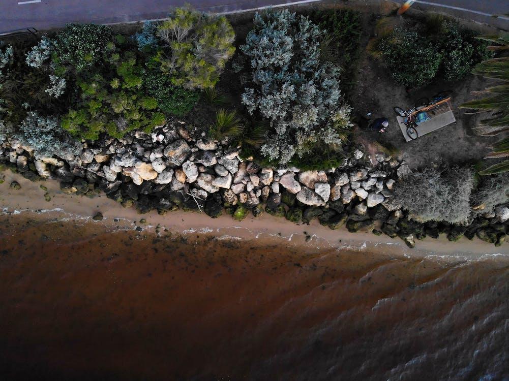Аерофотозйомка, берег, берег моря
