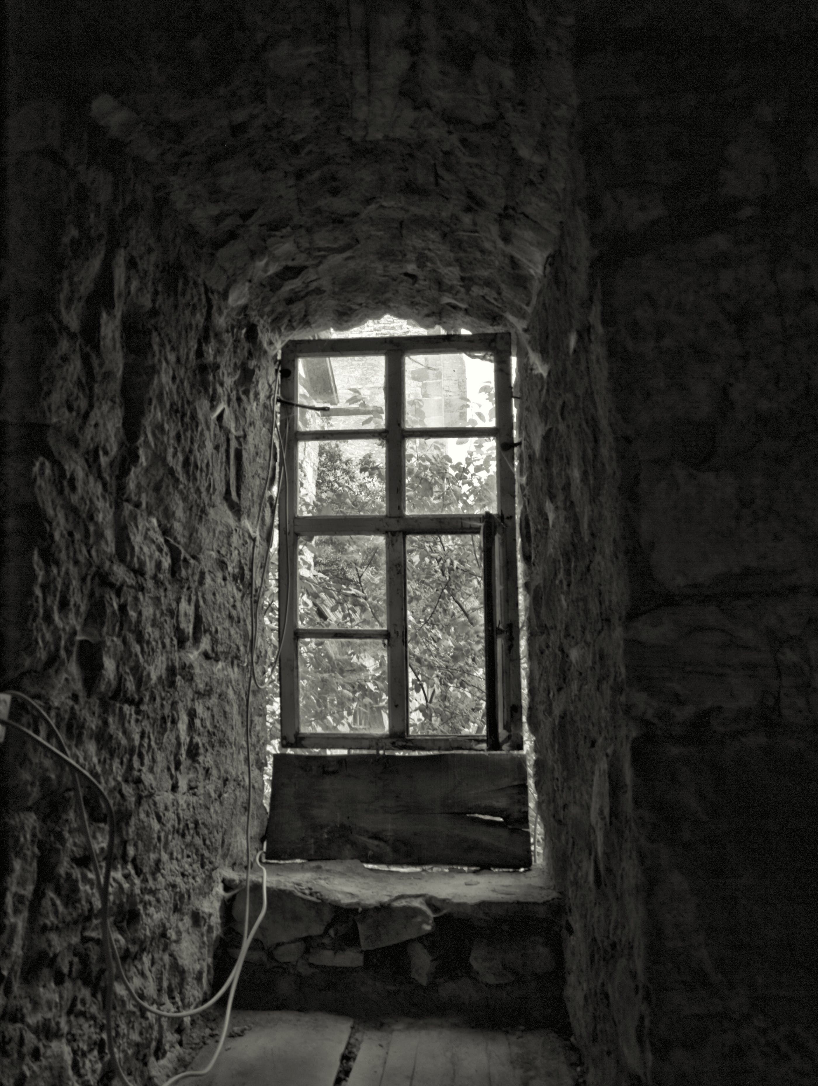 Free stock photo of black&white, monochrome, old window, outlook