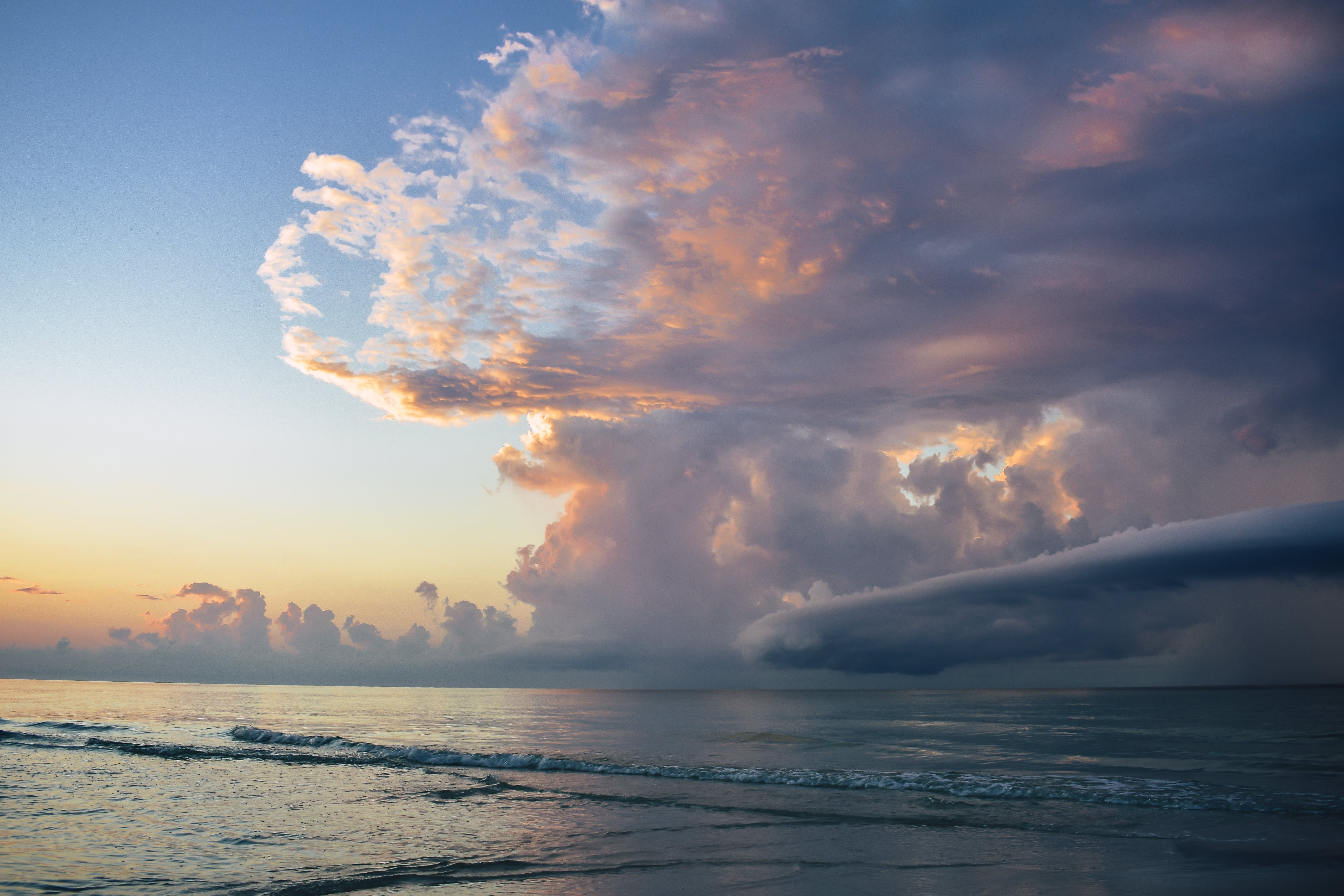 Scenic View of Ocean During Dawn