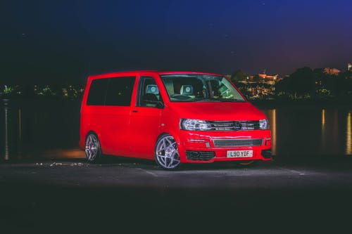 Photo of Red Volkswagen Van