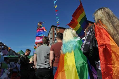 Foto d'estoc gratuïta de acte electoral, adult, arc de Sant Martí, banderes