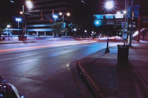 Photo Of Road With Lights At Night