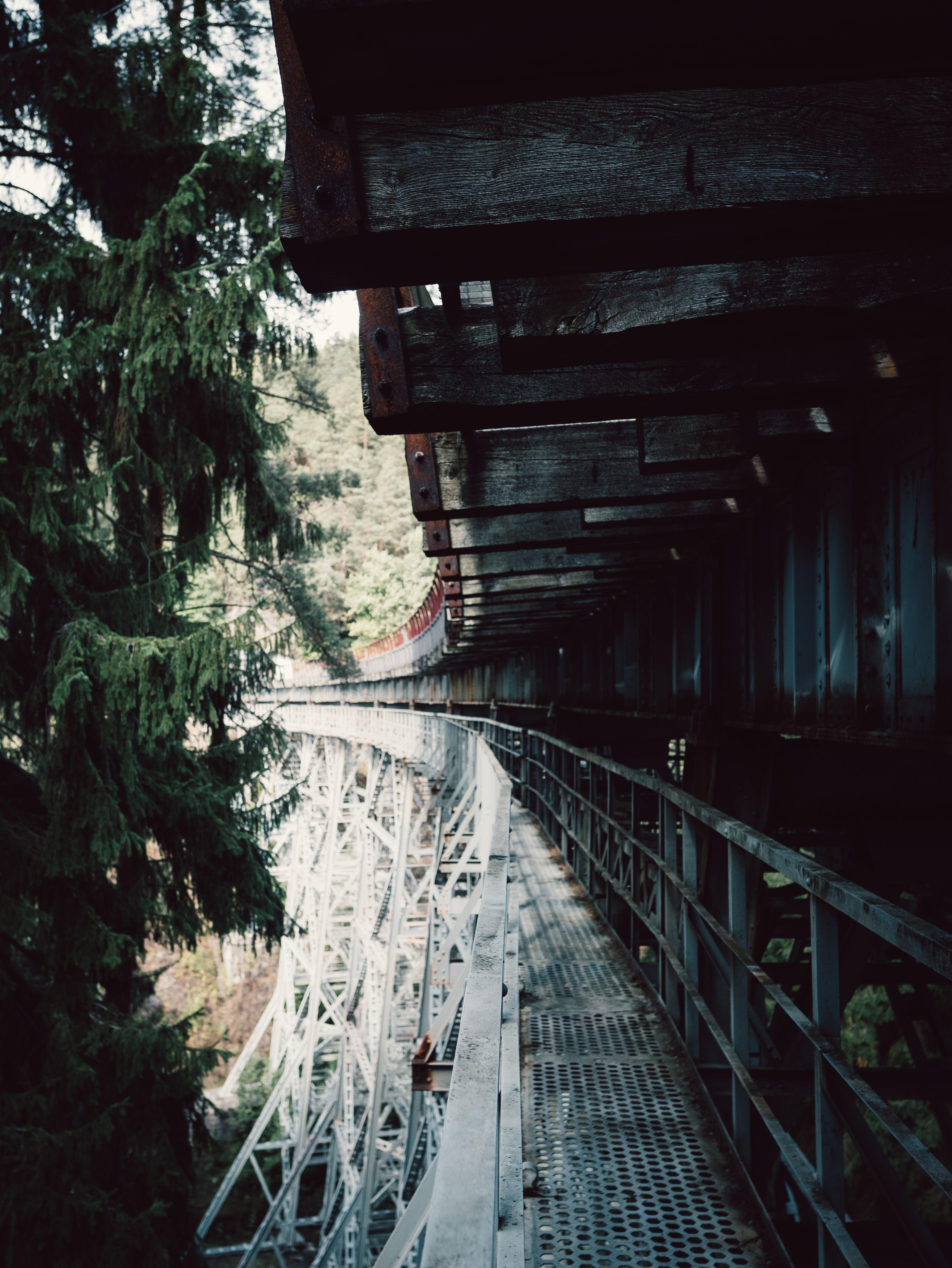 Close-up Photography of Metal Bridge
