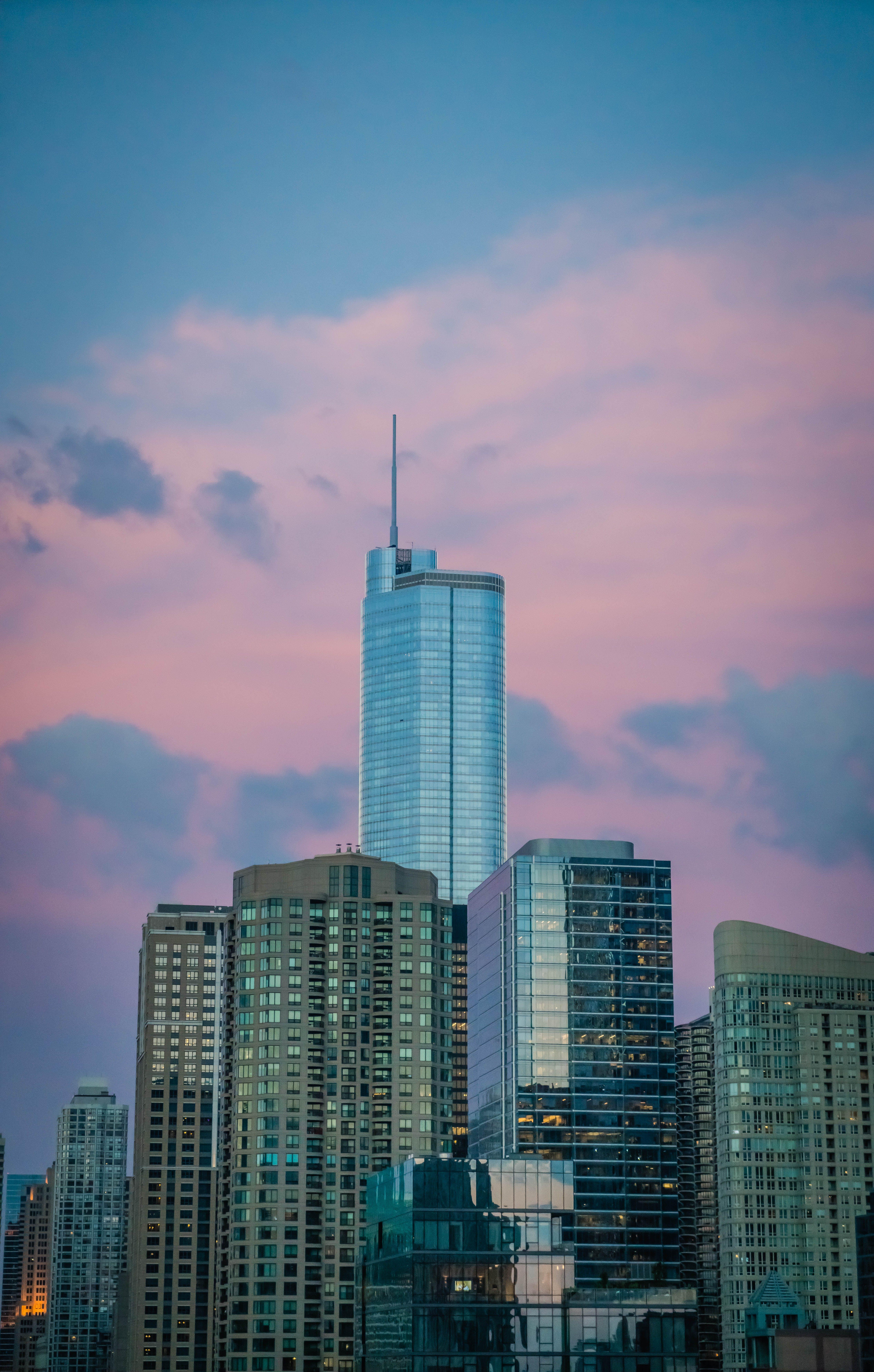 Kostenloses Stock Foto zu architektur, chicago, dämmerung, gebäude