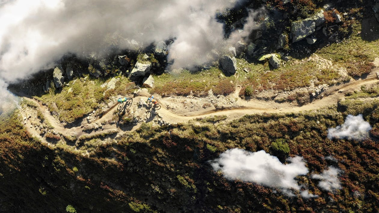Bird's Eye View of Dirt Road