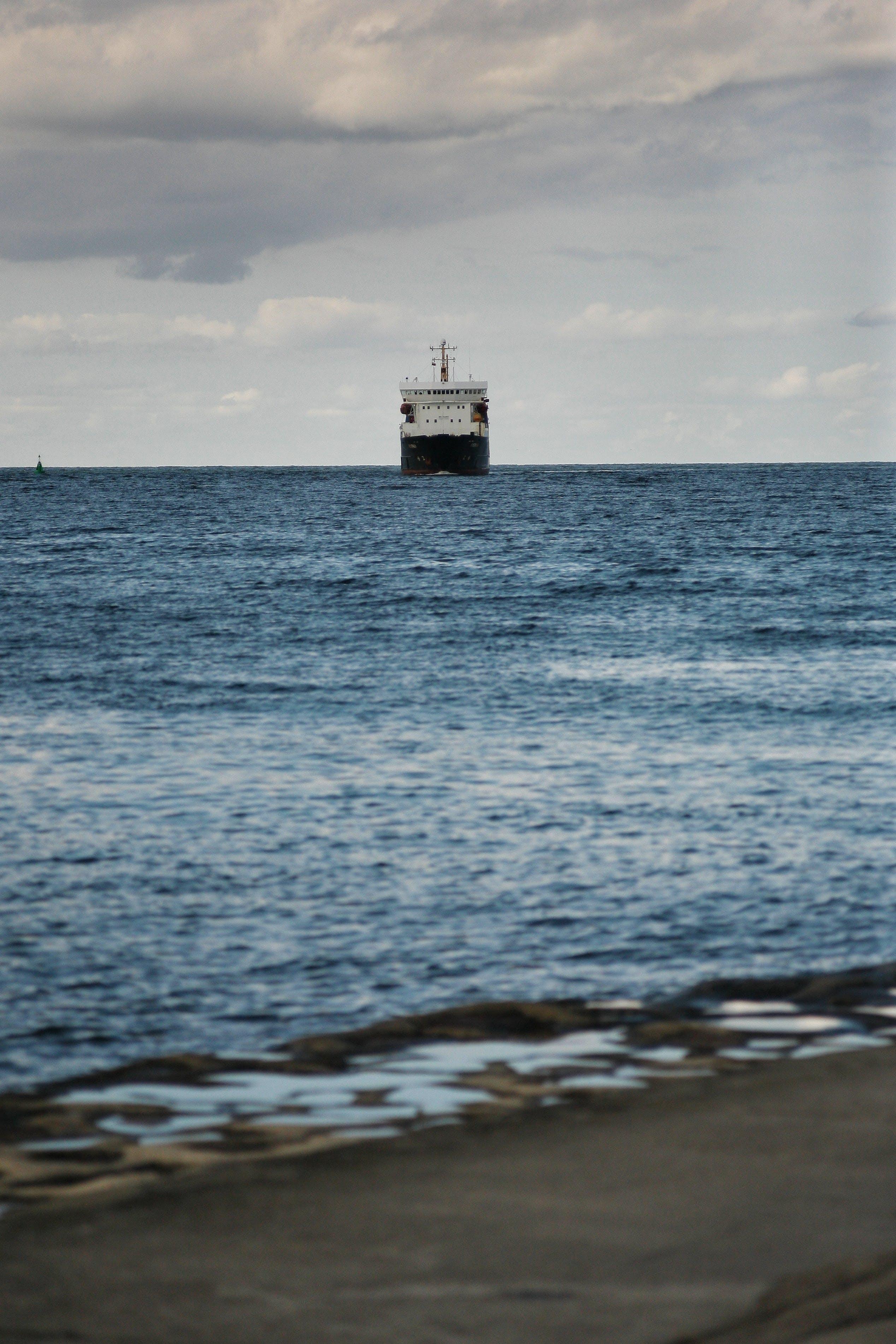 forside, hav, skib