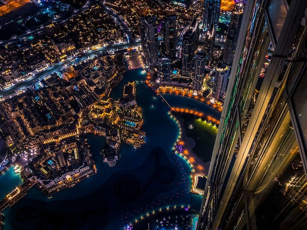architektur, beleuchtet, beleuchtung