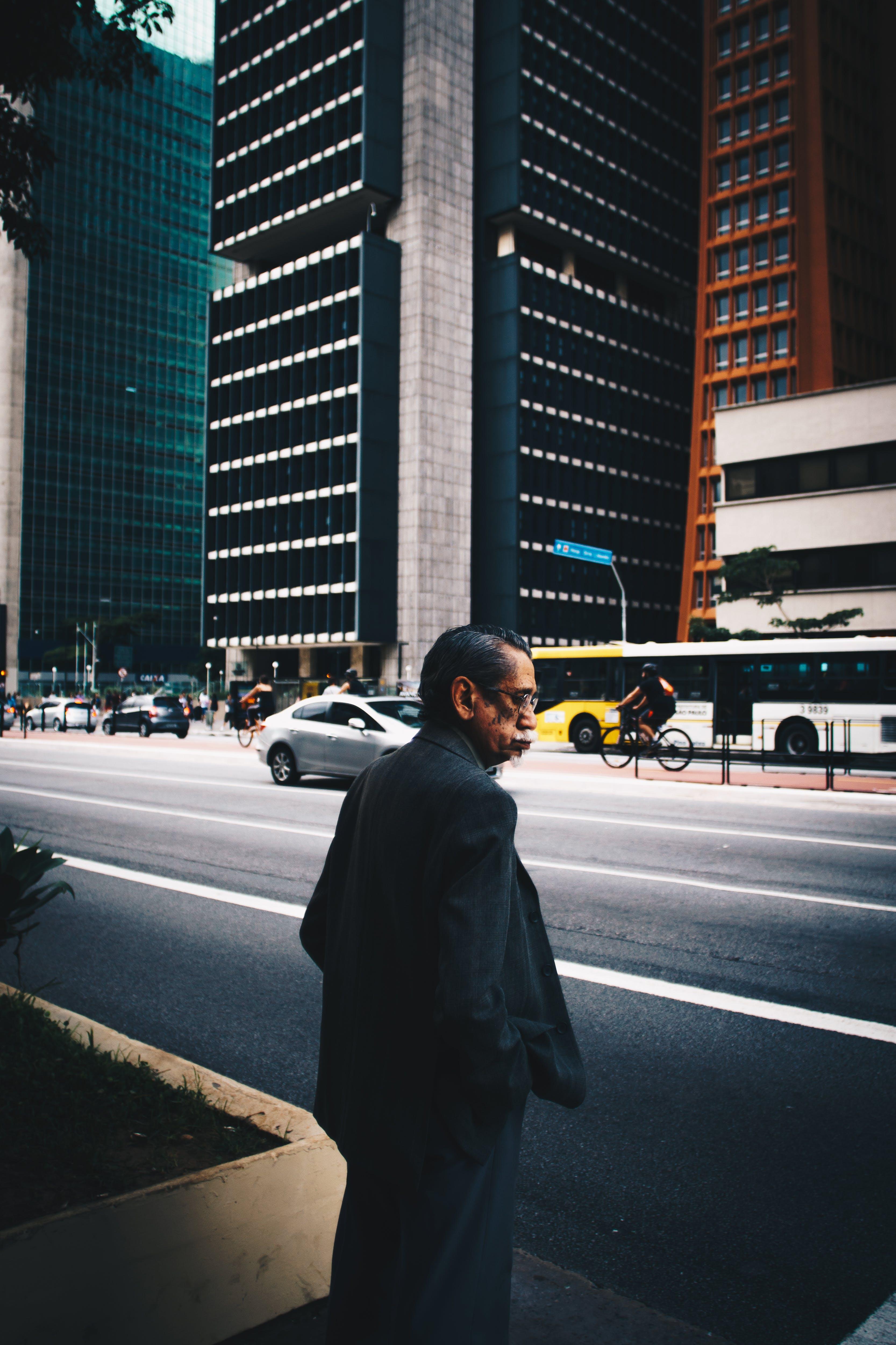 architektur, asiatischer mann, auto