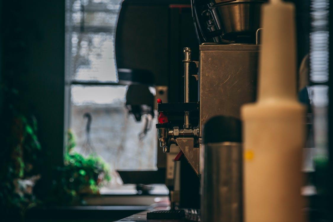 bokeh, firma, kavárna